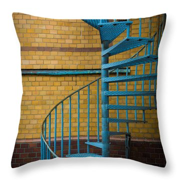 Spiral Staircase Throw Pillow by Inge Johnsson