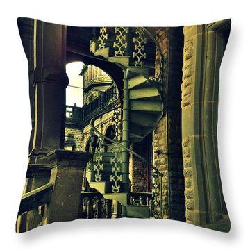 Spiral Staircase Throw Pillow by Salman Ravish