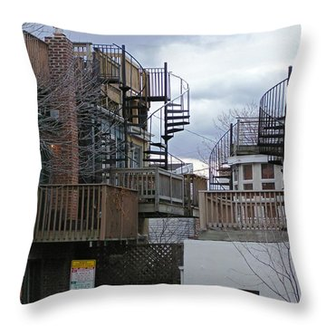 Throw Pillow featuring the photograph Spiral Stairs by Brian Wallace