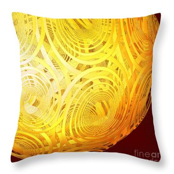 Spiral Sun By Jammer Throw Pillow by First Star Art