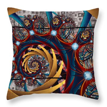 Spiraling Throw Pillow by Kim Redd