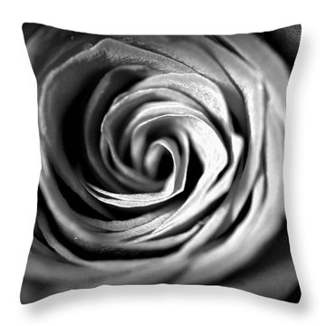 Spiraling Rose Throw Pillow by Christine Ricker Brandt
