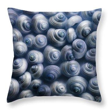 Spirals Blue Throw Pillow