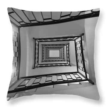 Spirals Throw Pillow by Lisa Parrish