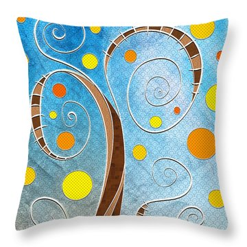 Spiralscape Throw Pillow