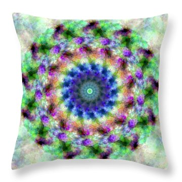 Spirea Mandala #1 Throw Pillow