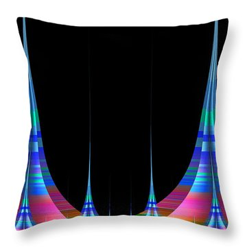 Throw Pillow featuring the digital art Spires by GJ Blackman
