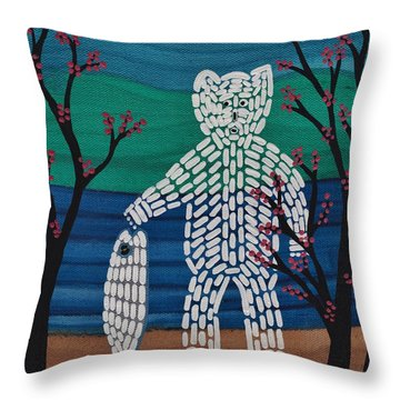 Spirit Bear Bella Coola Throw Pillow