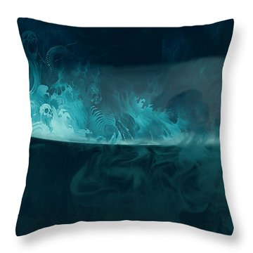 Spirit Brew Throw Pillow by Juli Scalzi