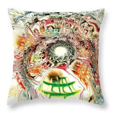 Spirit Crowd Throw Pillow by Anastasiya Malakhova