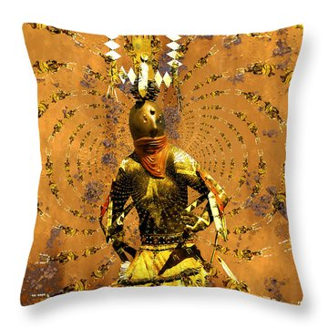 Spirit Dance Throw Pillow by Kurt Van Wagner