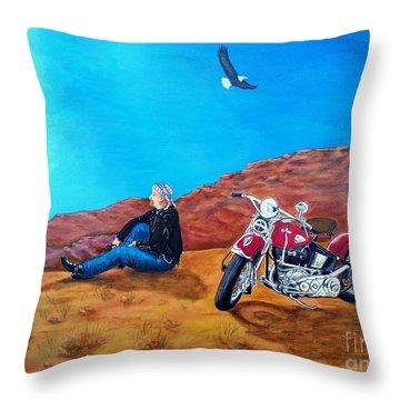 Spirit Eagle Throw Pillow