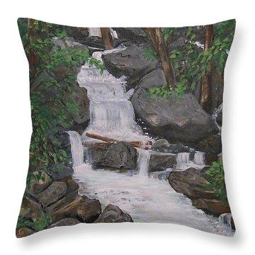 Spirit Falls Throw Pillow by Sharon Duguay