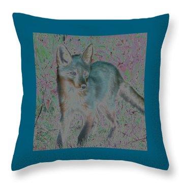 Spirit Fox Throw Pillow by Aurora Levins Morales