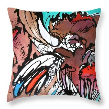 Throw Pillow featuring the painting Spirit Guide by Nicole Gaitan