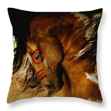 Spirit Horse Throw Pillow by Shanina Conway