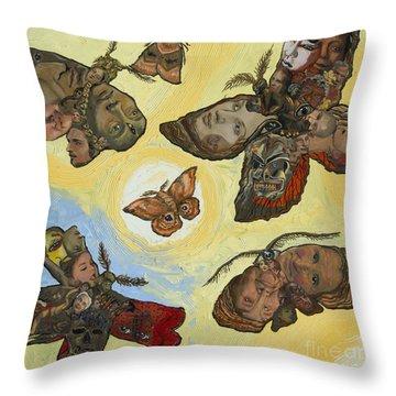 Spirit Lights Throw Pillow by Emily McLaughlin