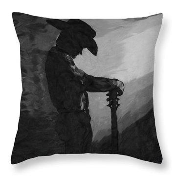 Spirit Of A Cowboy Throw Pillow