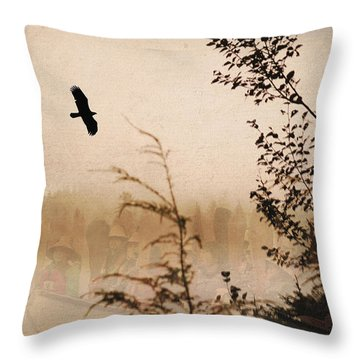 Spirit Of Alaska Throw Pillow by Cynthia Lagoudakis