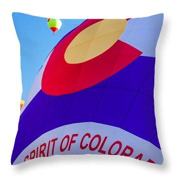 Spirit Of Colorado Proud Throw Pillow