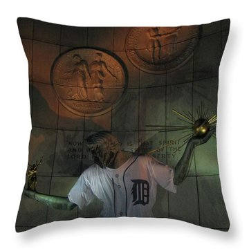Spirit Of Detroit Tigers Throw Pillow