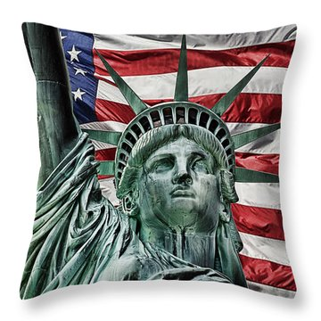 Spirit Of Freedom Throw Pillow
