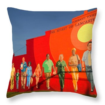 Throw Pillow featuring the photograph Spirit Of Lancaster South Carolina by Bob Pardue