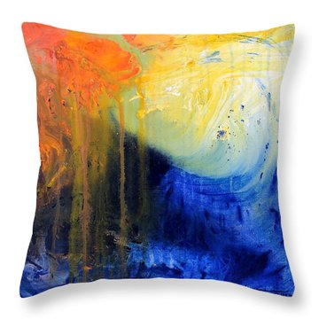 Spirit Of Life - Abstract 7 Throw Pillow by Kume Bryant