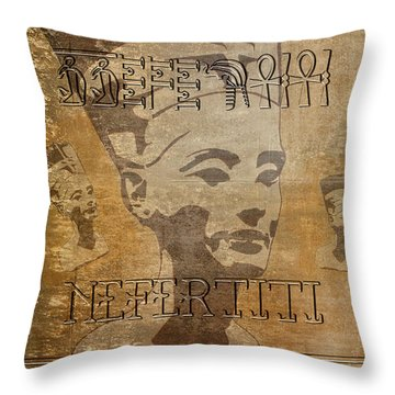 Spirit Of Nefertiti Egyptian Queen   Throw Pillow