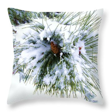 Throw Pillow featuring the photograph Spirit Of Pine by Margie Amberge