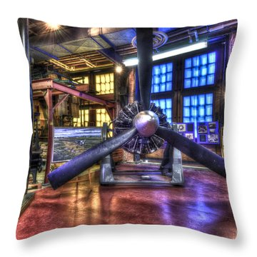 Spirit Of St.louis Engine Throw Pillow