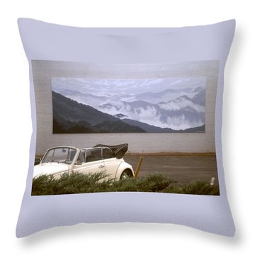 Spirit Of The Air Shown With Car Throw Pillow by Blue Sky