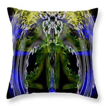 Spirit Of The Dragon Throw Pillow by Christopher Gaston