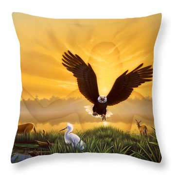 Spirit Of The Everglades Throw Pillow