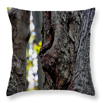 Spirit Of The Forest Throw Pillow by Andrea Kollo