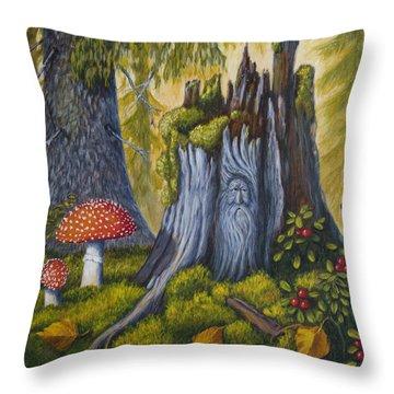 Spirit Of The Forest Throw Pillow by Veikko Suikkanen