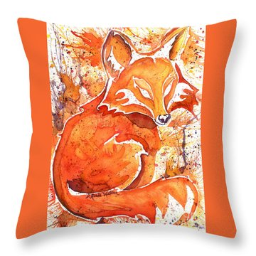 Spirit Of The Fox Throw Pillow