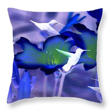 Spirit Of The Humming Bird Throw Pillow