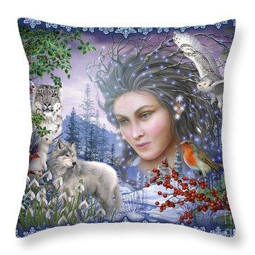 Spirit Of Winter Variant I Throw Pillow by Ciro Marchetti
