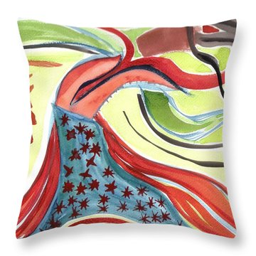 Spirit Sharing Throw Pillow by Lesley Fletcher