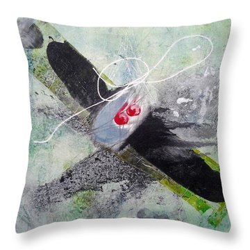 Spirit Spiral Throw Pillow by Lesley Fletcher