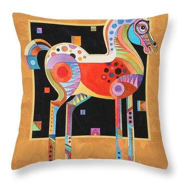 Spirit Stallion II Throw Pillow by Bob Coonts