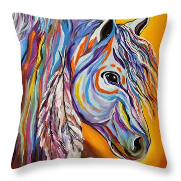 'spirit' War Horse Throw Pillow