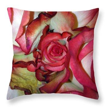 Spirited Rose  Throw Pillow