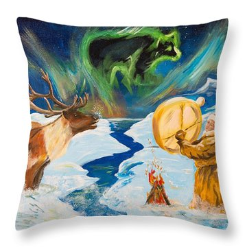 Spirits Call Throw Pillow