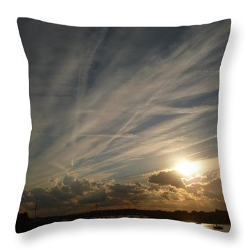 Spirits Flying In The Sky Throw Pillow