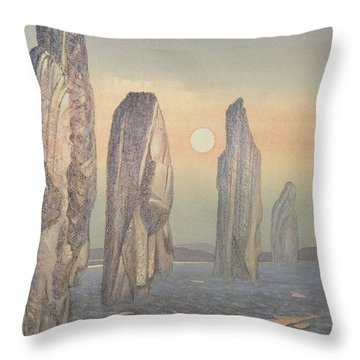 Spirits Of Callanish Isle Of Lewis Throw Pillow by Evangeline Dickson