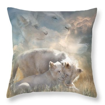 Spirits Of Innocence Throw Pillow by Carol Cavalaris