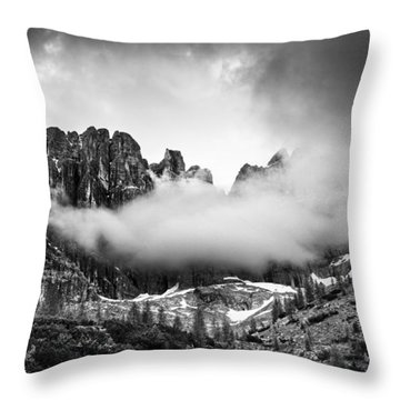 Spirits Of The Mountains Throw Pillow