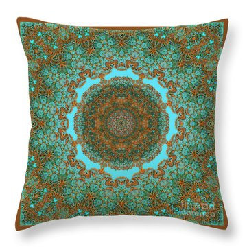 Spiritual Art - Diaphanous Moods Mandala By Rgiada   Throw Pillow